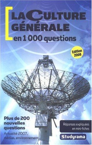 9782759002771: La culture générale en 1000 questions