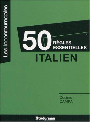 9782759008179: 50 règles essentielles italien