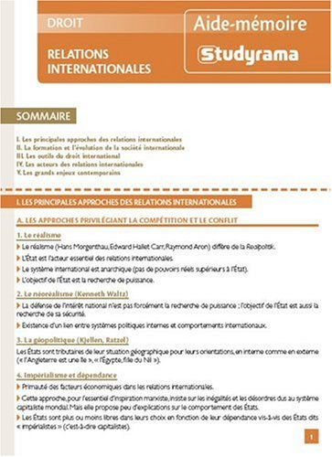 9782759008216: Relations internationales (French Edition)