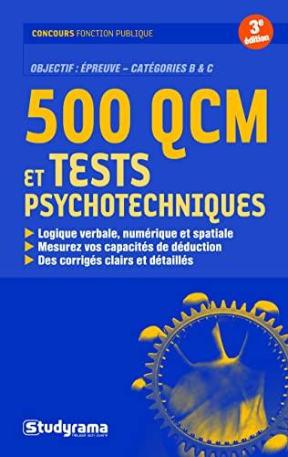 9782759010264: 500 QCM et tests psychotechniques