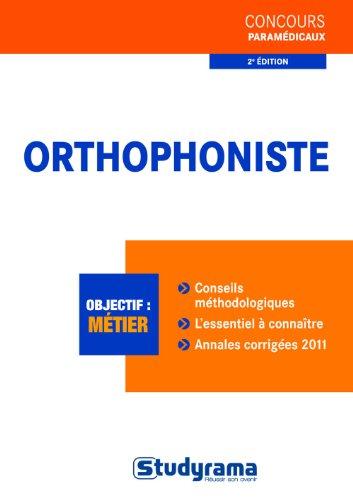 9782759014316: Orthophoniste