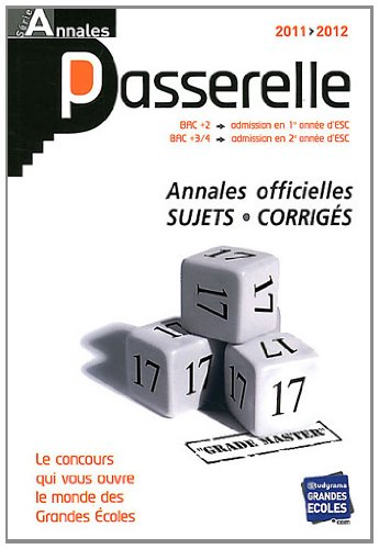 9782759014637: passerelles ; annales (édition 2011-2012)