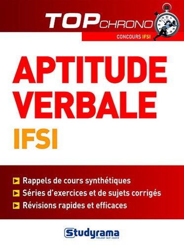 9782759015160: Tests d'aptitude verbale IFSI