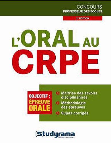 9782759015238: L'oral au CRPE
