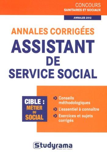 9782759018383: Annales corrigées assistant de service social