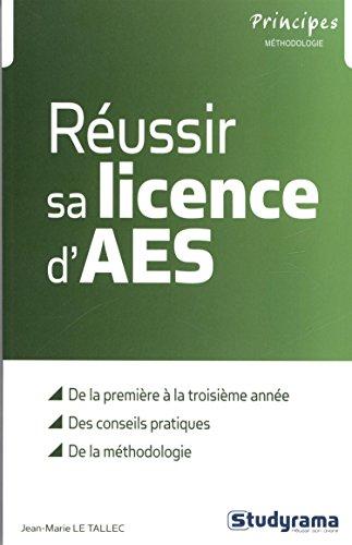 9782759020584: Réussir sa licence d'AES