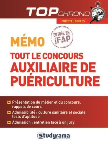9782759026401: M�mo tout le concours auxiliaire de pu�riculture - entr�e en IFAP