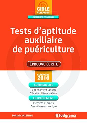 9782759026661: Tests d'aptitude auxiliaire de pu�riculture