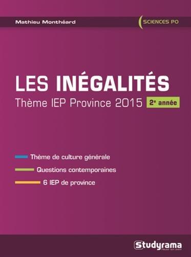 9782759027279: Les in�galit�s, th�me IEP province, 2015 : 2e ann�e