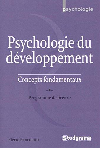 9782759028917: Psychologie du d�veloppement : Concepts fondamentaux