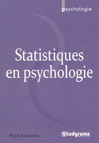 Statistiques en psychologie: Pierre Benedetto