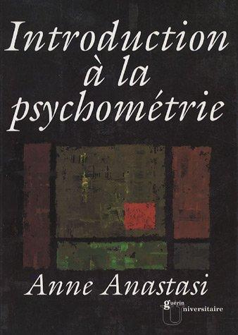 introduction ? la psychom?trie: Anne Anastasi