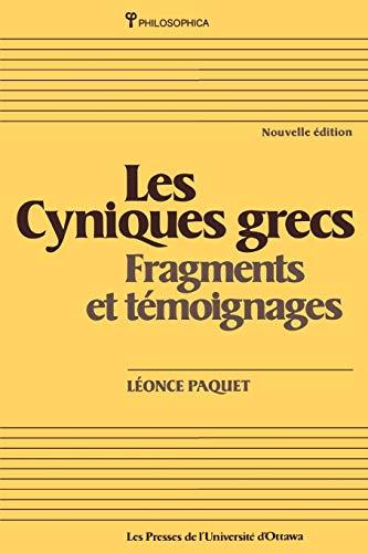 Les Cyniques Grecs: Fragments Et Temoignages (Paperback: Paquet, Leonce