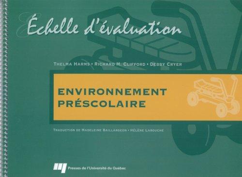 9782760509856: Echelle d Evaluation de l Environnement Prescolaire (2 a 5 Ans)