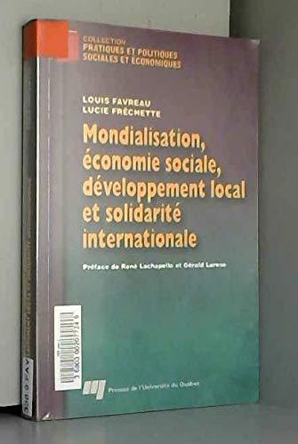 9782760510890: Mondialisation, économie sociale, developpement local