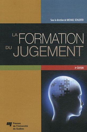 La formation du jugement (French Edition): Michael Schleifer