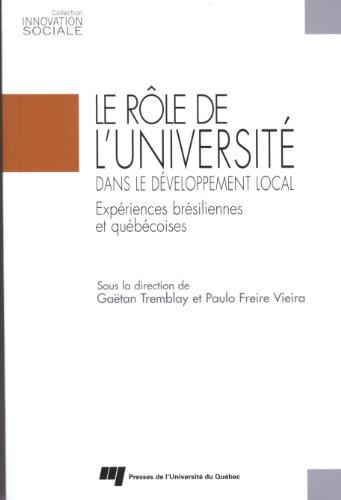 ROLE DE L UNIVERSITE DANS DEVELOPPEMENT: TREMBLAY VIEIRA