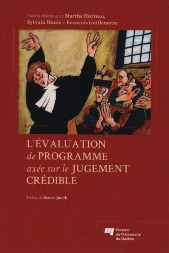 Evaluation de programme axee sur le jugement credible: Collectif