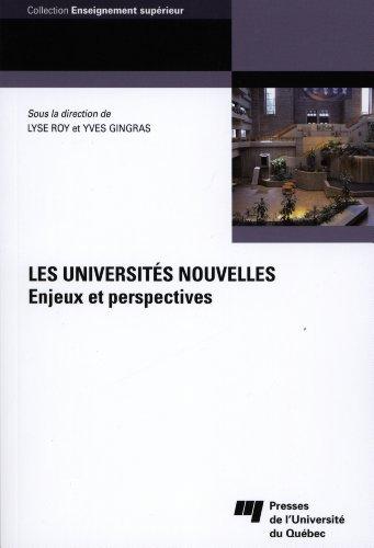 9782760535572: Les universités nouvelles : Enjeux et perspectives