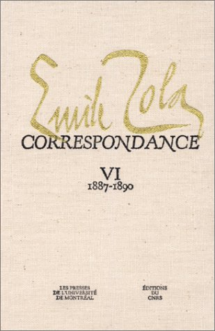 9782760607941: Correspondence: 1887-1890 (Zola, Emile//Correspondance) (French Edition)