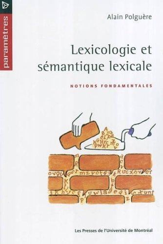 9782760618602: Lexicologie et semantique lexicale