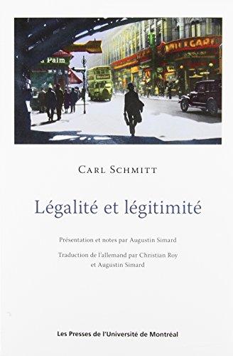 9782760634701: Légalité et légitimité
