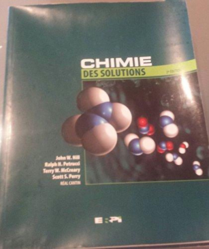 9782761314206: Chimie des solutions : recueil des solutions