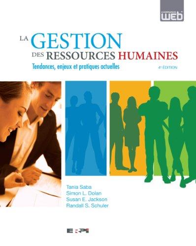 Gestion des ressources humaines 4e éd. [Paperback]
