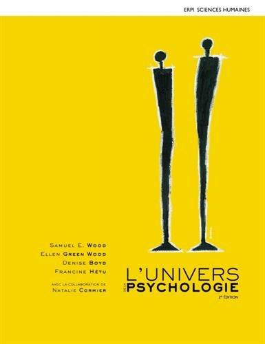 9782761353120: L'Univers de la psychologie 2e édition : Manuel + Edition en ligne + MonLab (12 mois)