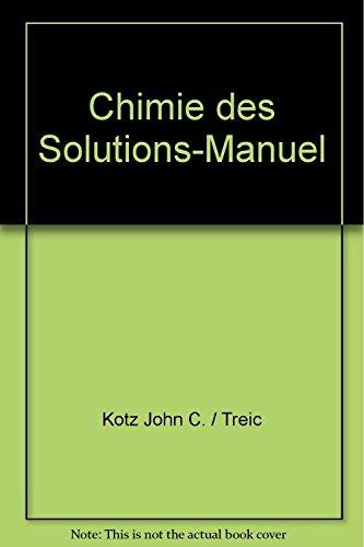 9782761625159: Chimie des Solutions-Manuel