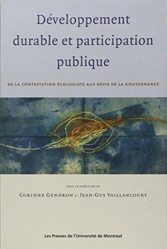 DÉVELOPPEMENT DURABLE ET PARTICIPATION PUBLIQUE: GENDRON CORINNE
