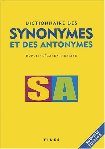9782762124446: Dictionnaire des synonymes et des antonymes