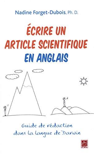 ECRIRE UN ARTICLE SCIENTIFIQUEM EN ANGLA: FORGET DUBOIS