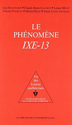 9782763770130: Le Phenomene Ixe-13 (French and English Edition)