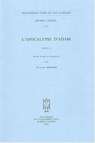 L'Apocalypse d'Adam (NH V, 5): MorardF.,