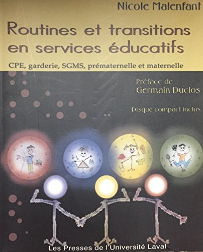 9782763778556: Routines et Transitions en Services Educatifs Cdrom Inclus