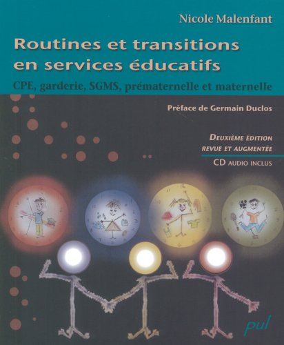 9782763783475: Routines et Transitions en Services Educatifs 2e ed CD Inclus