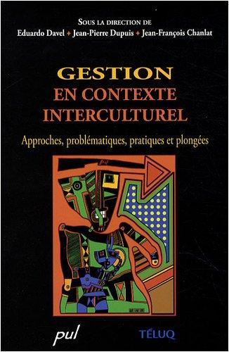 gestion en contexte interculturel ; approches, probl?matiques,: Collectif