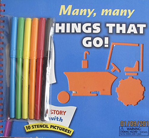 Many, Many Things That Go! (Stencil Picture: Graphic Design By