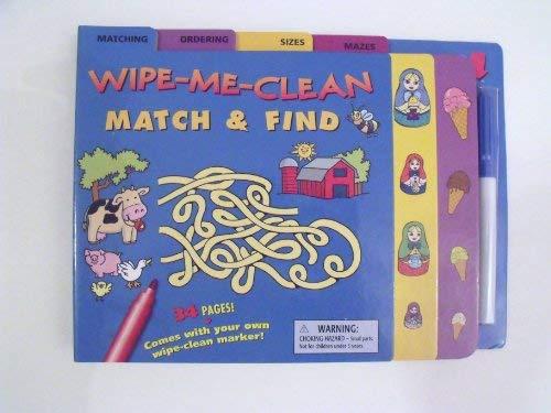 Wipe-Me-Clean Match & Find (Activity Book: Includes: Inc. Tormont Publications
