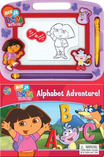 Dora Alphabet Adventure Storybook & Magnetic Drawing Kit(Nickelodeon Learning): Phidal ...