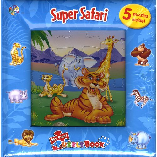 9782764303320: my first puzzle book - super safari :Five Jigsaw Puzzles