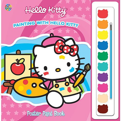 9782764321515: Hello Kitty: Painting with Hello Kitty Poster Paint Book
