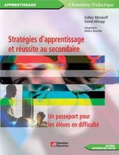 Strategies d'Apprentissage et de Reussite au Secondaire