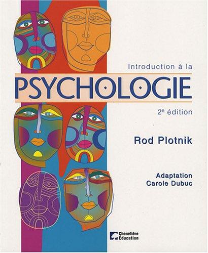 INTRODUCTION A LA PSYCHOLOGIE: PLOTNIK ROD