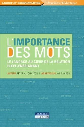 IMPORTANCE DES MOTS -L-: JOHNSTON NADON