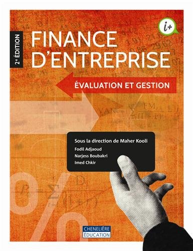 9782765039990: Finance d'entreprise : Evaluation et gestion