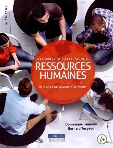 de la supervision à la gestion des ressources humaines ; à l'ère d'...