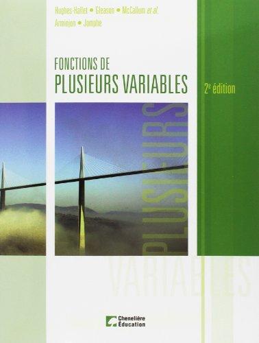 Fonctions de plusieurs variables (French Edition): D?borah Hugues-Halett