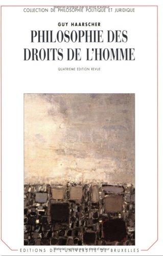 9782800410746: Philosophie des Droits de l'Homme